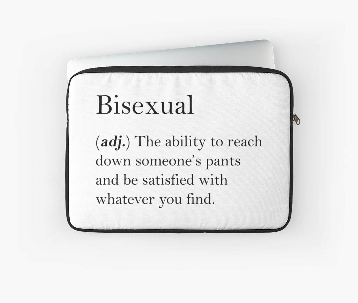 Meaning of bisexual not absolutely