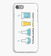 Beer is a Solution White iPhone Case/Skin