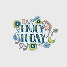 Enjoy Today (Navy)  by Jacquelyn  Carter