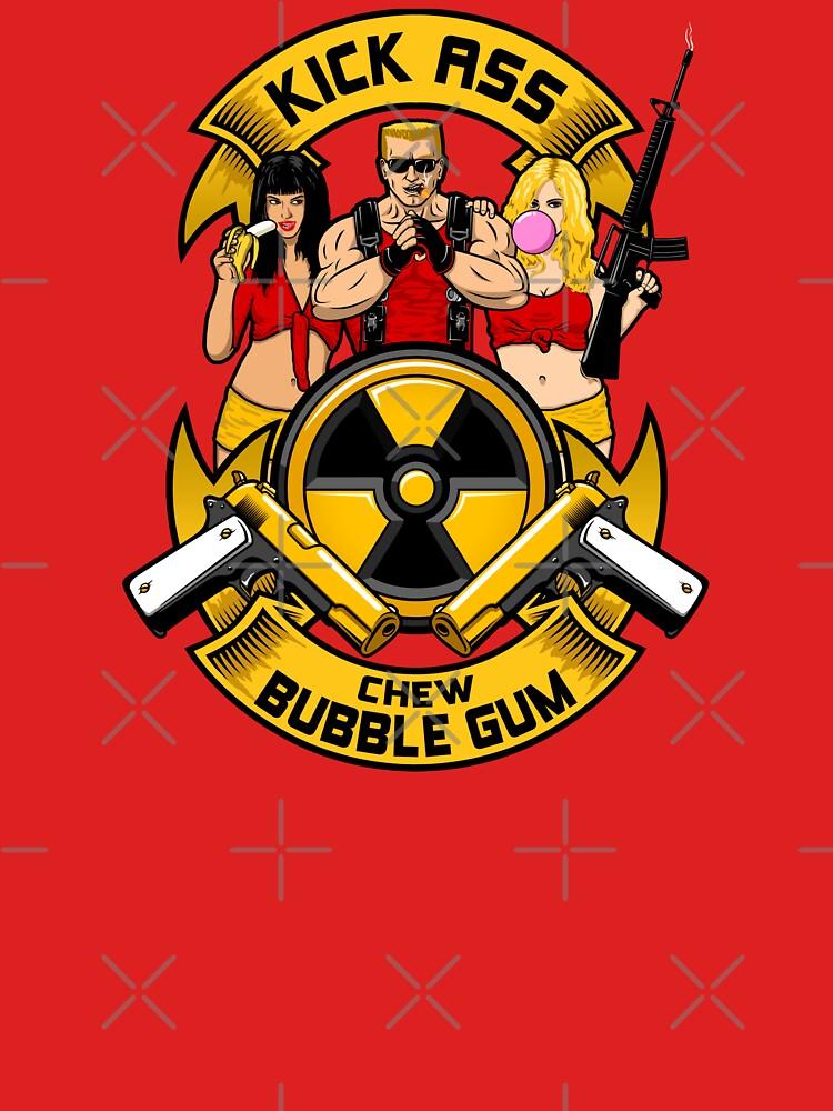 Kick ass! Chew bubble gum! by RevolutionGFX