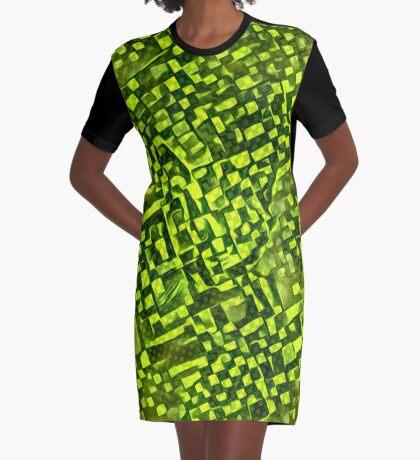 Cubismish cat Graphic T-Shirt Dress