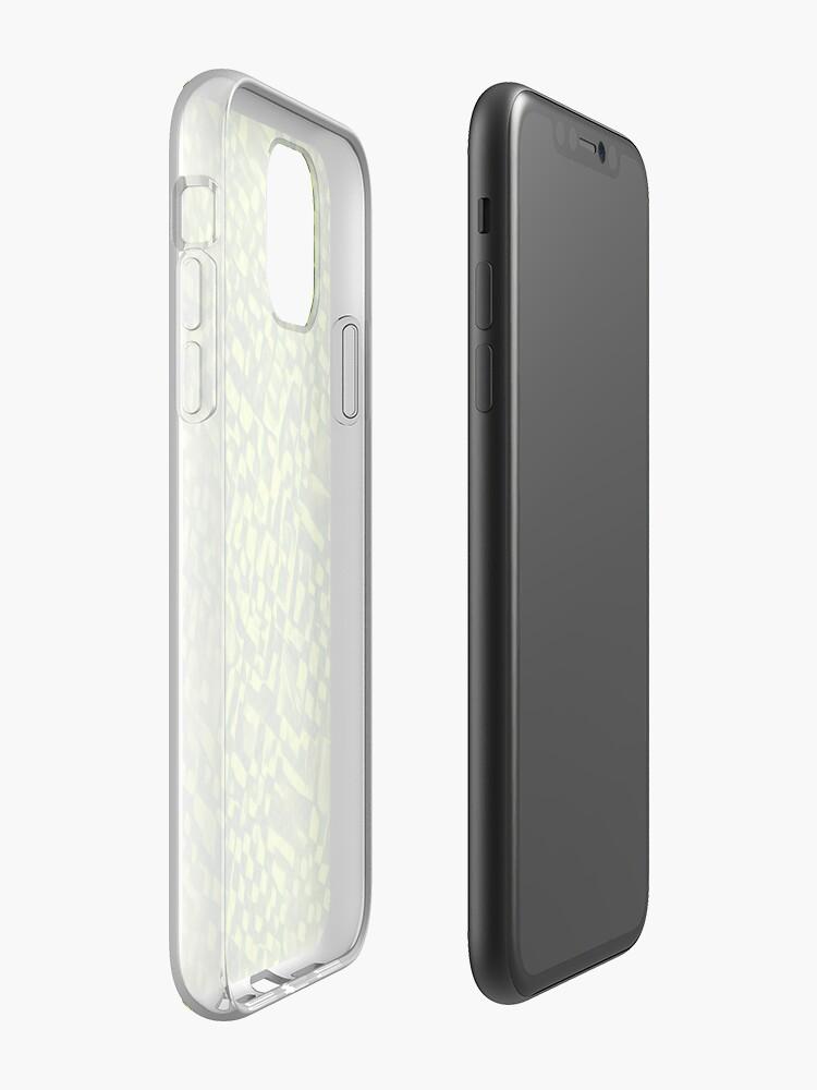 Alternate view of Cubismish cat iPhone Case & Cover