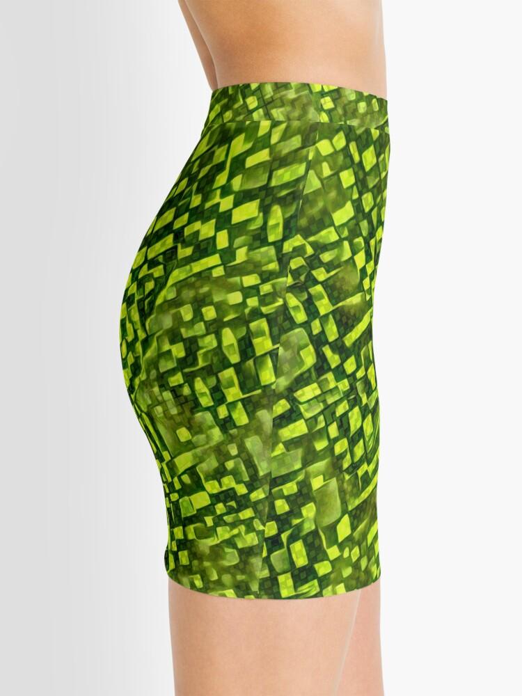 Alternate view of Cubismish cat Mini Skirt