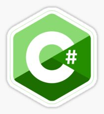 c # c sharp green Sticker