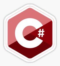 c # c sharp red Sticker