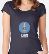 Team Groom Stagparty R8h55 Women's Fitted Scoop T-Shirt