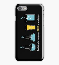 Beer is a Solution Black iPhone Case/Skin