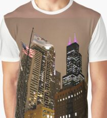 Sears Tower on a Cloudy Night Graphic T-Shirt