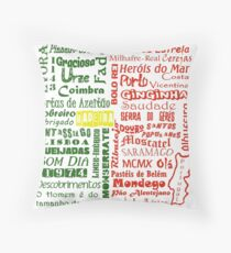 Country Word Mosaic - Portugal Throw Pillow