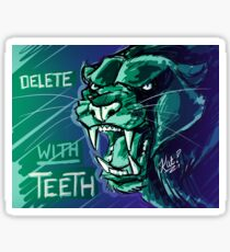Delete With Teeth - Black Panther Snarl Sticker