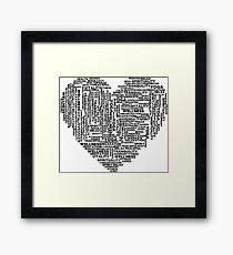 Yoga, health and wellness heart Framed Print