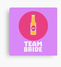Team Bride Henparty Rn70s Canvas Print