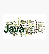 programming languages cloud java Photographic Print