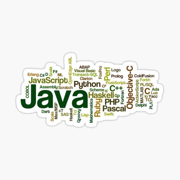 programming languages cloud java Sticker