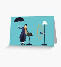 Poppins Portal Greeting Card