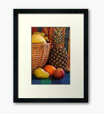 basket full fruit abundance Framed Print