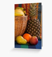 basket full fruit abundance Greeting Card