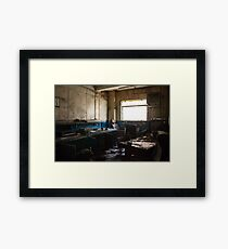 Urban Exploration - Forgotten Office Framed Print