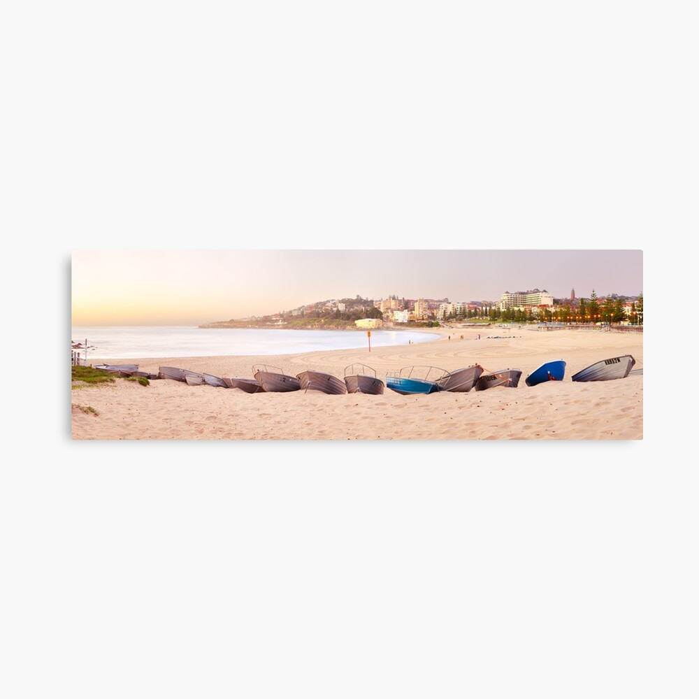 Coogee Beach Boats, Sydney, New South Wales, Australia Canvas Print