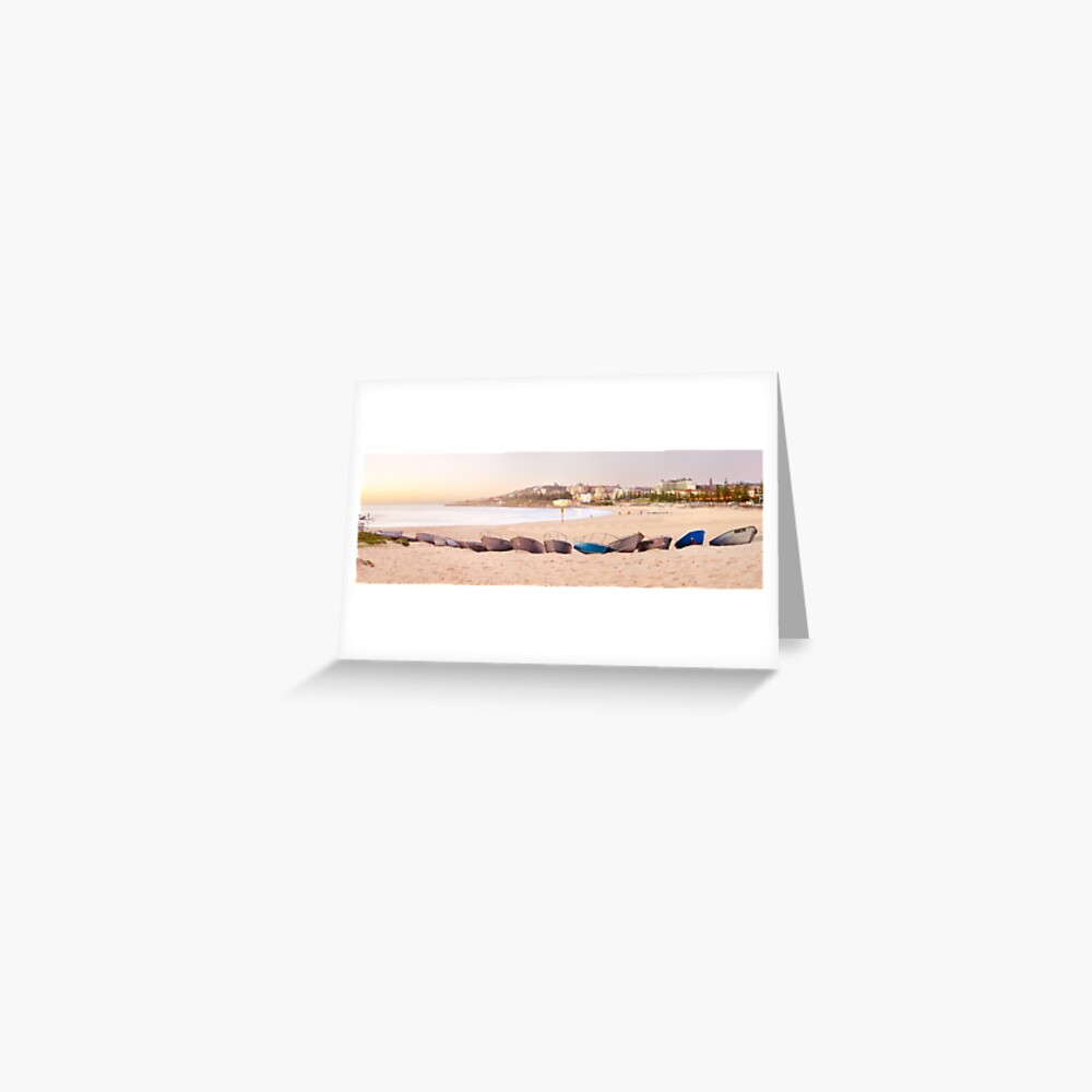 Coogee Beach Boats, Sydney, New South Wales, Australia Greeting Card