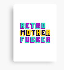 Retro Motherfucker Canvas Print