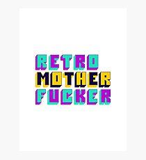Retro Motherfucker Photographic Print