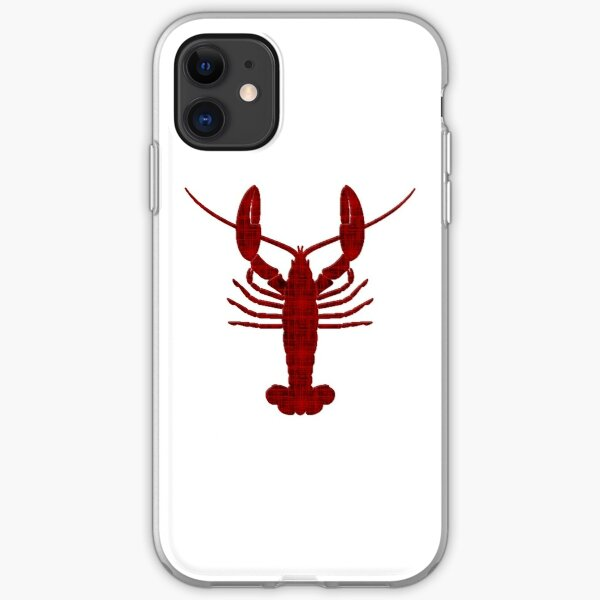 Lobster silhouette iPhone Soft Case