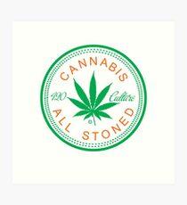 Cannabis Logorythm Art Print