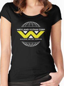 Weyland Yutani - Bright Yellow Logo Women's Fitted Scoop T-Shirt