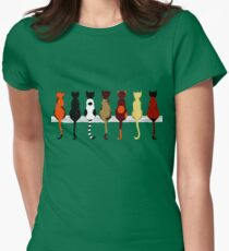 Fence sitters (Green) Womens Fitted T-Shirt