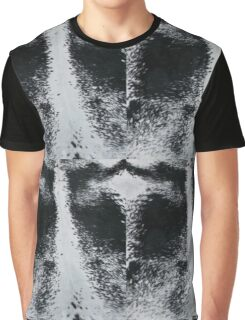 Speckled Black and white cowhide | Texture Graphic T-Shirt