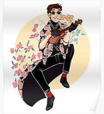 ukulele flower boy Poster