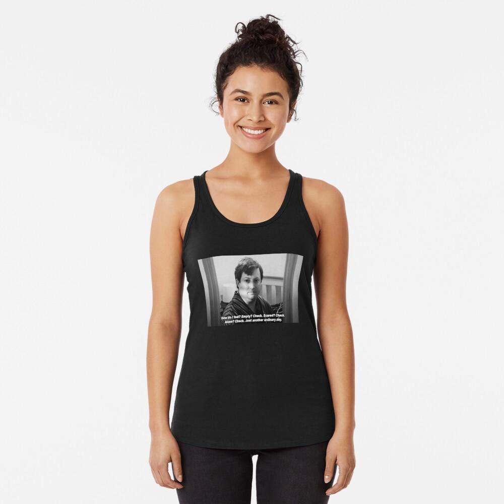 """Peep Show Mark """"Simplemente otro día ordinario"""". Impresión Camiseta con espalda nadadora"""