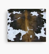 Tan, white and black cowhide | Texture #home #lifestyle Canvas Print