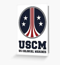 United States Colonial Marines - USCM Greeting Card