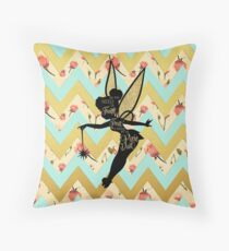 Tinkerbell Pixie Dust Quote Throw Pillow
