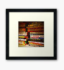 Pulp Novels Framed Print