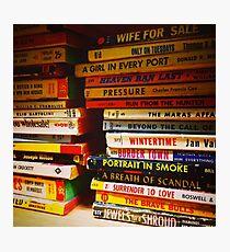 Pulp Novels Photographic Print