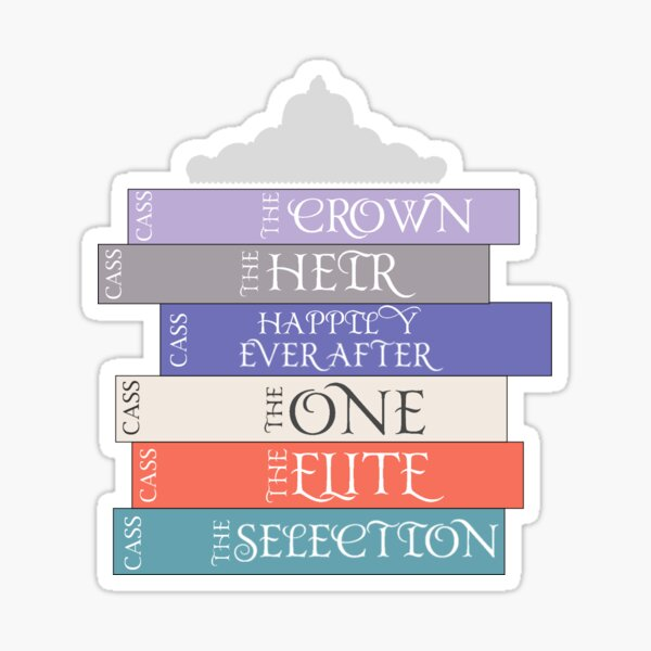 The Selection Series Spines Sticker