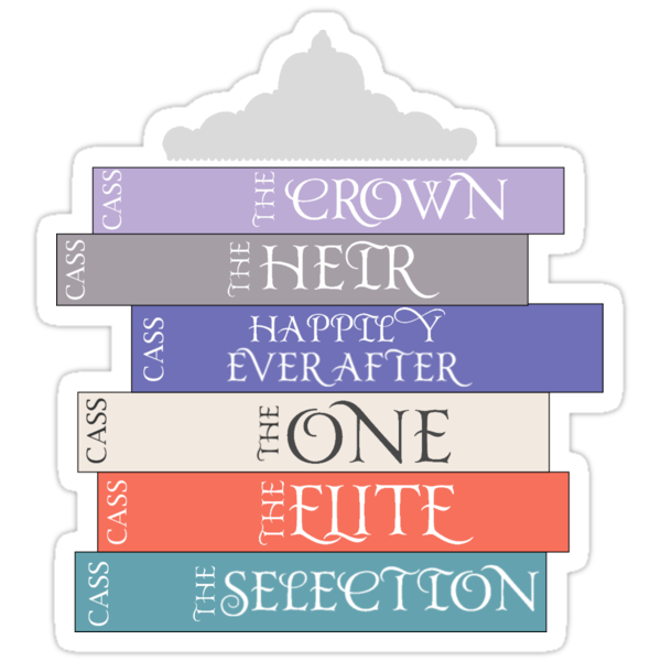 Quot The Selection Series Spines Quot Stickers By Amandakoz