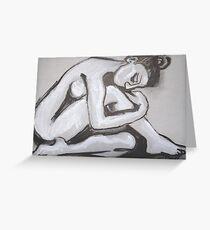 Posture 4 - Female Nude Greeting Card