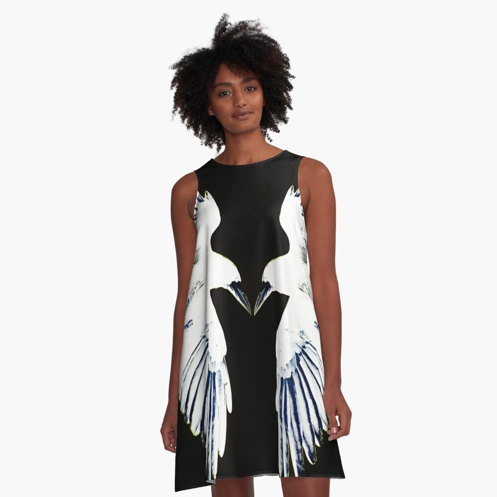 Huginn and Muninn 2 A-Line Dress