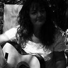 Girl in a Garden with guitar Barbara Anne by Virginia McGowan