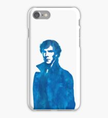 Sherlock Blue Vector Graphic iPhone Case/Skin