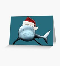 Christmas shark Greeting Card