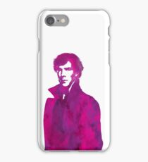 Sherlock pink vector graphic iPhone Case/Skin
