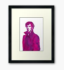 Sherlock pink vector graphic Framed Print