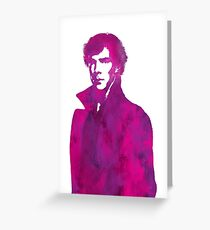 Sherlock pink vector graphic Greeting Card