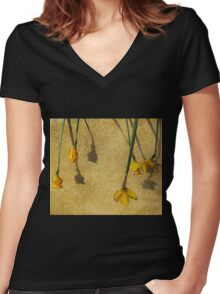 And We All Fall Down Women's Fitted V-Neck T-Shirt