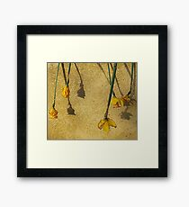 And We All Fall Down Framed Print